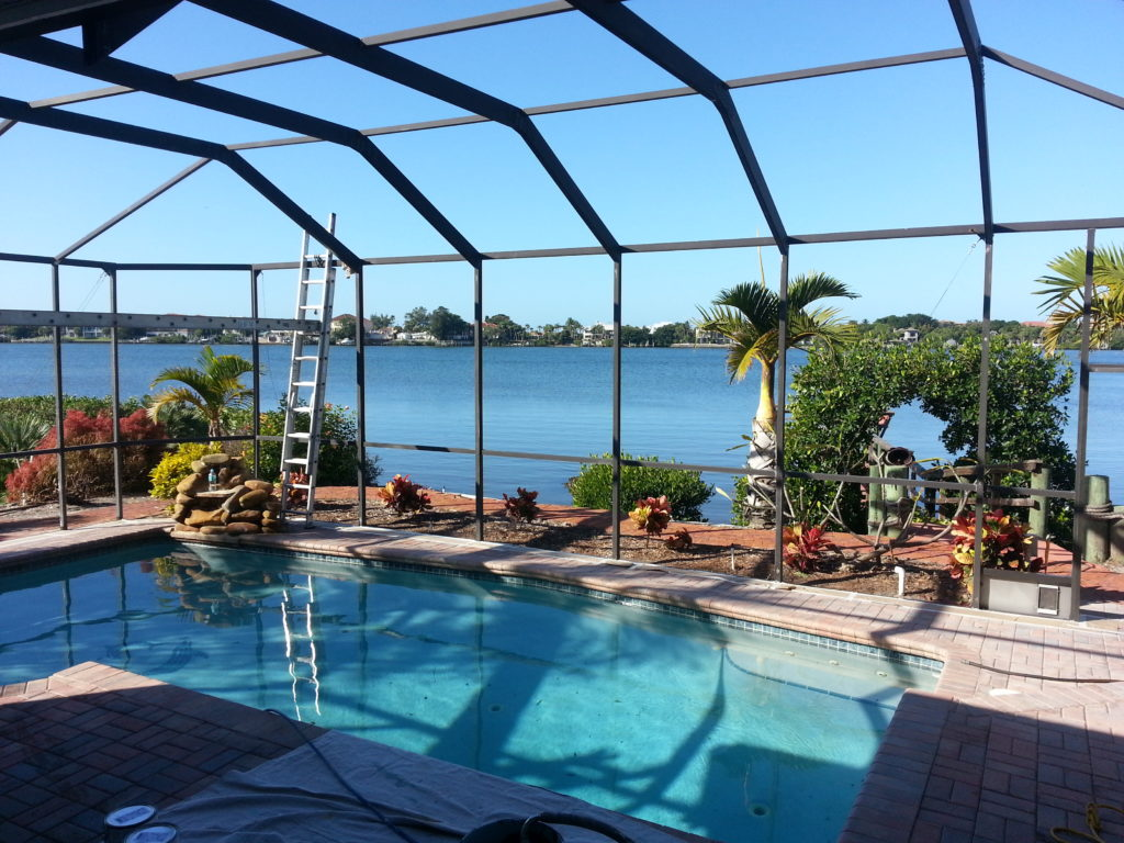 Pool cage painters expanding into tampa st pete jpm for Pool lanai cost