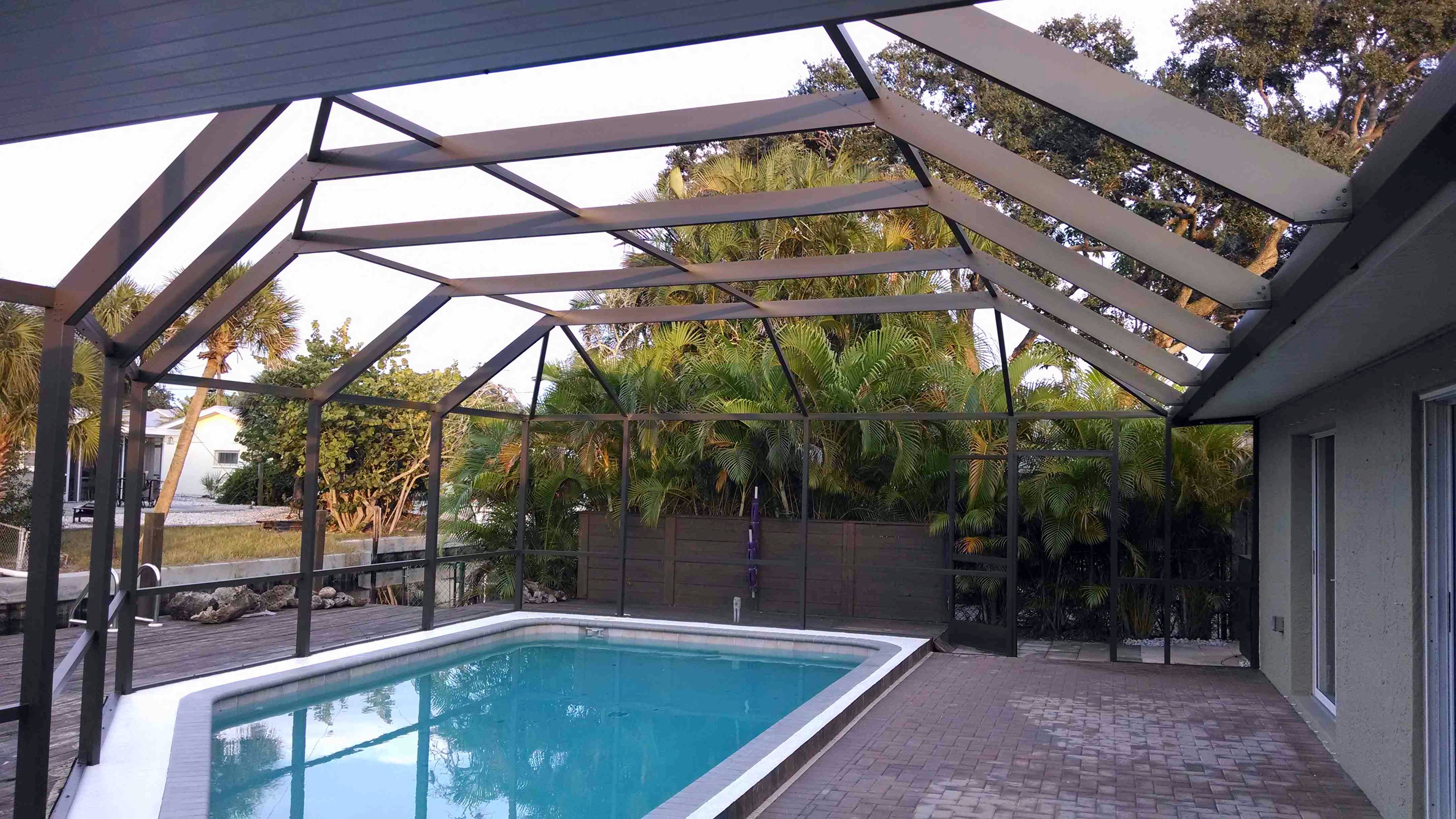 Pool Cage Of The Month January In Siesta Key Jpm Painters